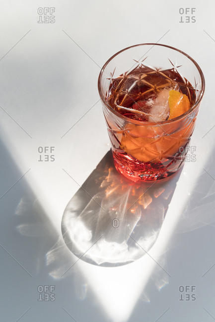 Negroni cocktail with shadow