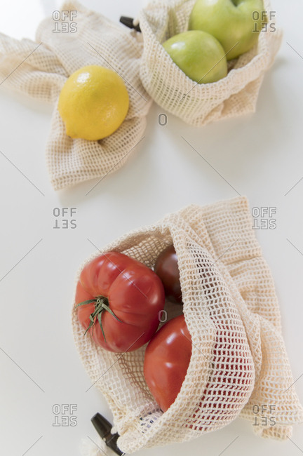 Produce in reusable bag