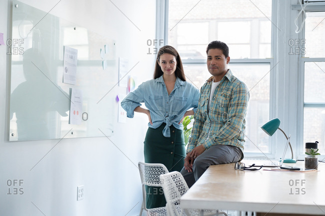 Coworkers in modern office - Offset