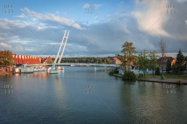 Pedestrian Bridge in Mikolajki, Warmian-Masurian, Poland