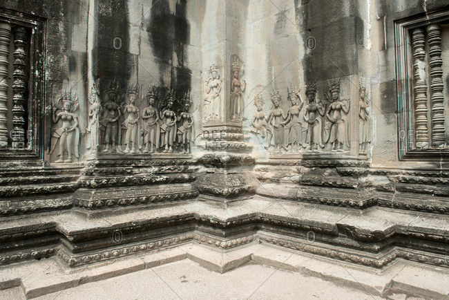 Buddhist temple Angkor Wat in Cambodia