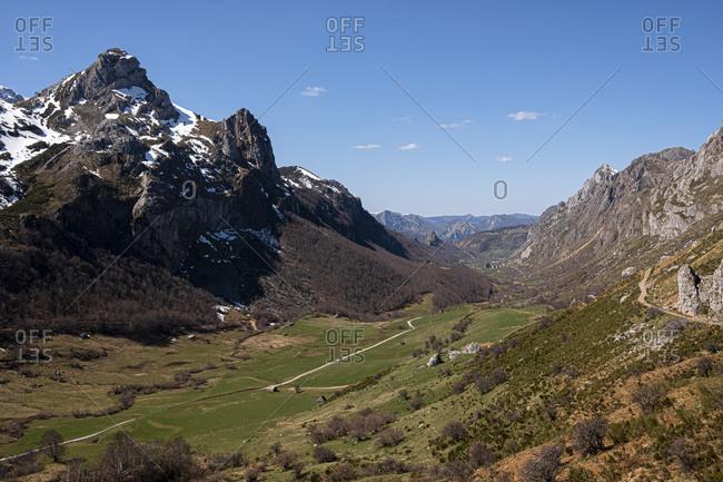 View over Valle de Lago, Asturias, Spain