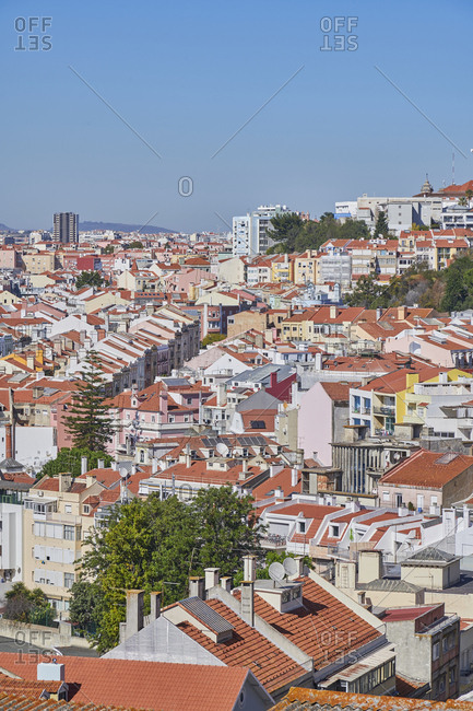 The Anjos neighborhood of Lisbon, Portugal viewed from Graca