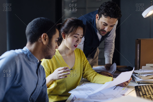 People working together in architect's office