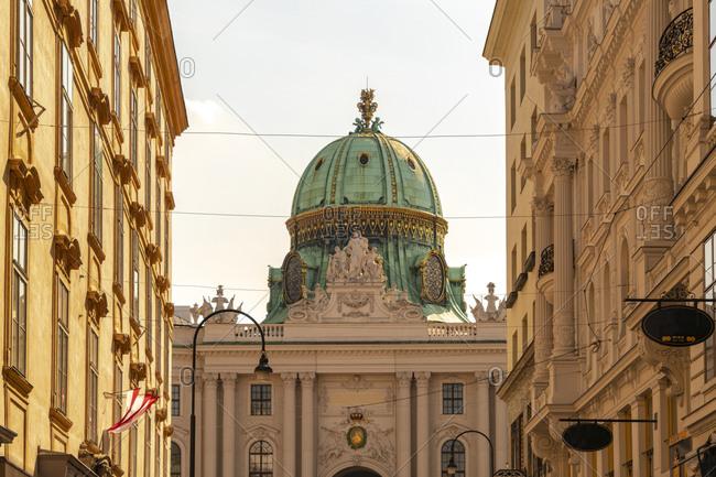 Exterior of Hofburg Palace in Vienna- Austria