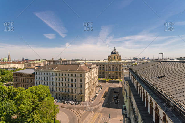 May 18, 2017: Naturhistorisches museum and buildings against sky in Vienna- Austria