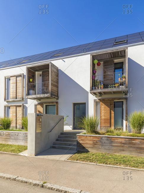 September 4, 2019: Germany- Bavaria- Neu-Ulm- energy efficient house