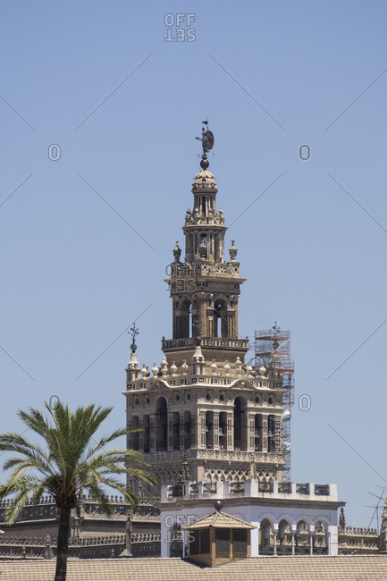 Catedral de Sevilla against clear sky in Andalusia- Spain