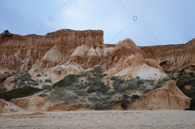 Rocky sandstone at beach- Atlantic Coast- Algarve- Portugal