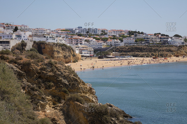 May 28, 2019: Scenic view of beach at Albufeira- Algarve- Portugal