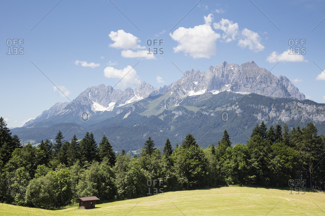 Scenic view of Kaiser Mountains against sky- Kitzbuhel- Tyrol- Austria