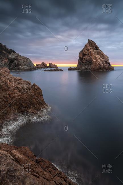 Spain- Girona- Tossa de Mar- Costa Brava at dawn