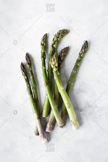 Asparagus Spears on a table