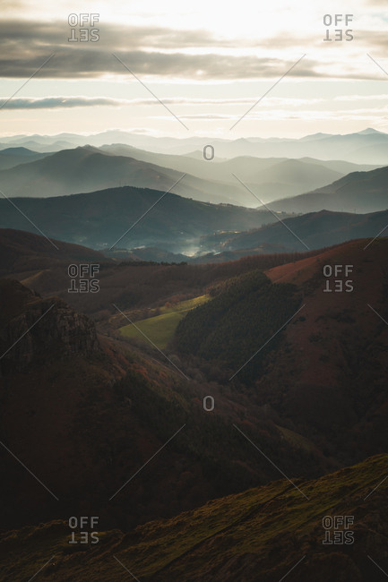 Epic light on the hills of Basque Country