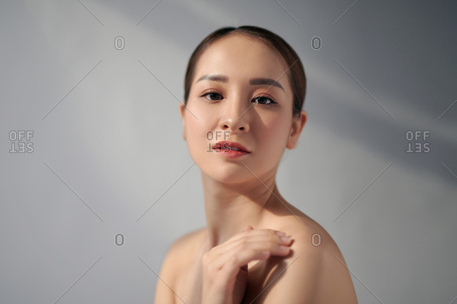 Portrait of a beautiful Asian woman with healthy skin