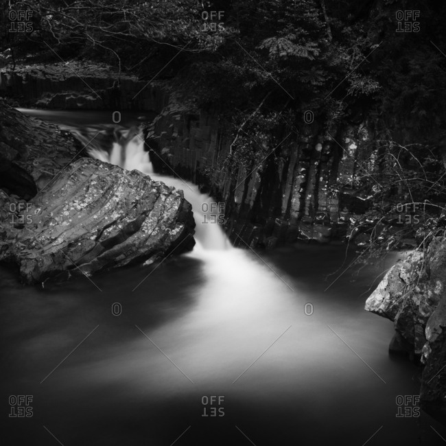 Long exposure shot of Deai-daru falls, Shizuoka Prefecture, Japan