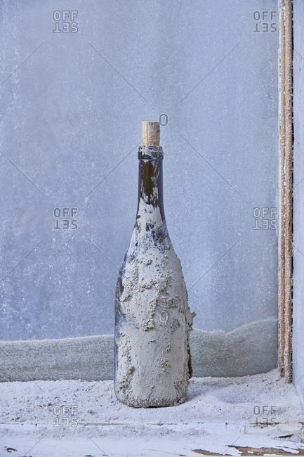 Wine bottle found in construction site, Lisbon, Portugal