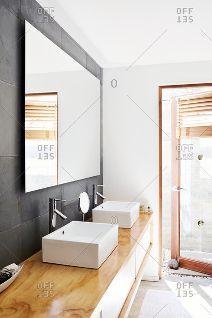 Costa Rica, Central America - July 30, 2019: Interior of a bathroom in a modern home