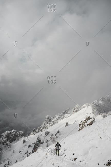Mountaineer hiking- Italian Alps- Lecco- Lombardy- Italy