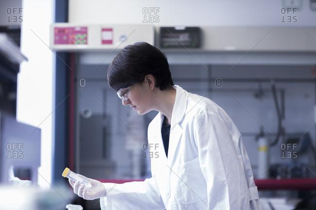 Female laboratory technician working in a laboratory
