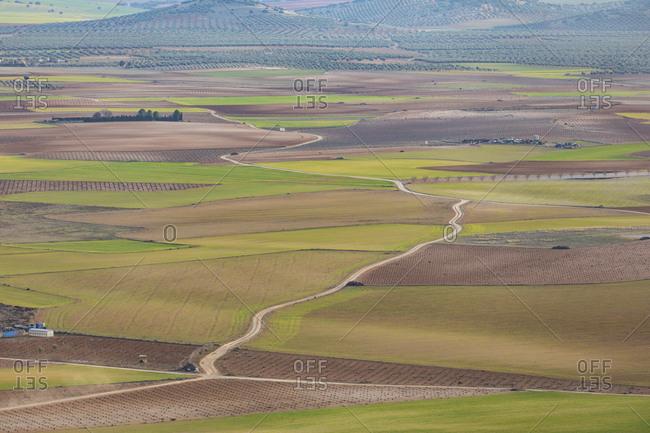 Spain- Aerial view of Castilla-La