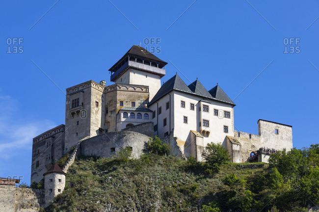 Slovakia- Trencin- Trencin Castle against clear sky