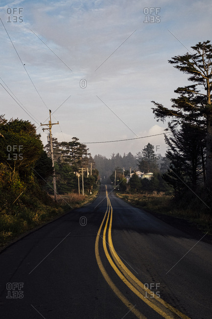 Winding road in rural Oregon, USA