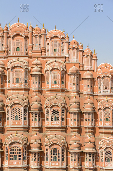 """Hawa Mahal, also known as the """"Palace of Winds"""" or """"Palace of the Breeze"""" in Jaipur, Rajastan, India"""