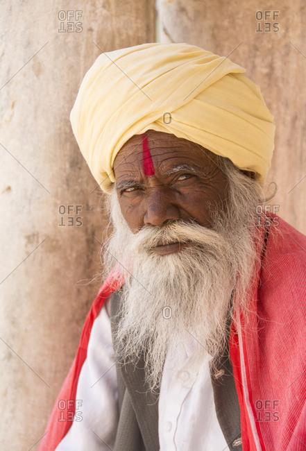 Sadhu at Jagdish Temple, Udaipur, Rajastan, India