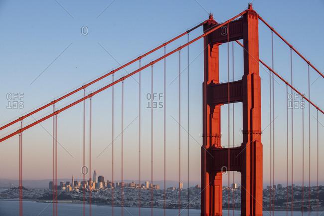 Golden Gate Bridge from Marin Headlands in San Francisco, California