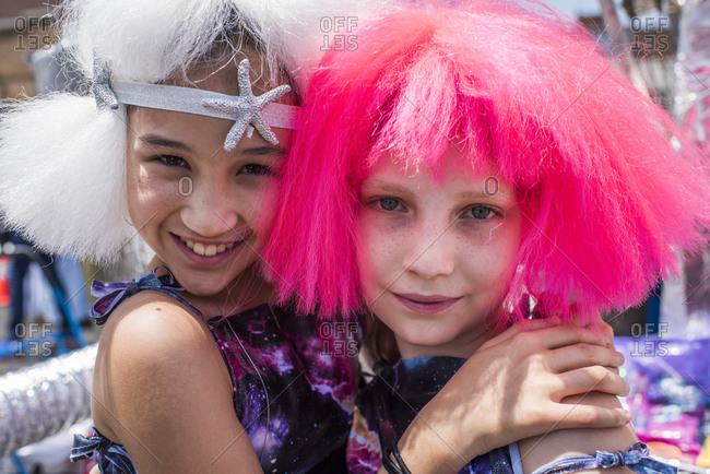 Brooklyn, New York - June, 22, 2019: Children at the 37th Annual Mermaid Parade