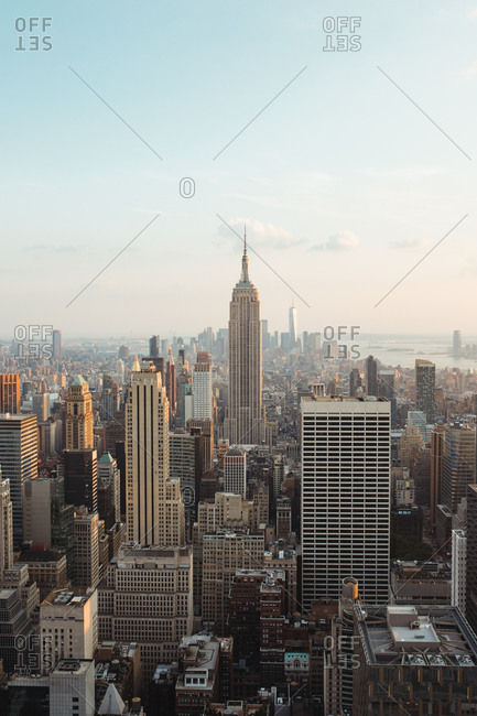 August 6, 2019: View of New York cityscape