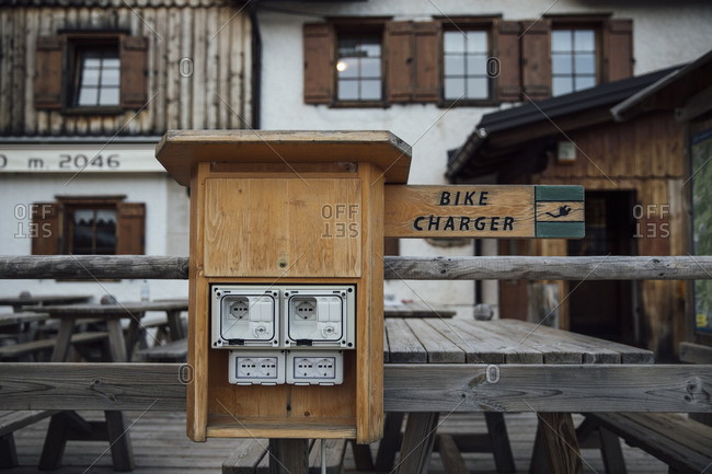Bike charger- Dolomites- Cortina- Italy