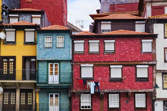 Portugal- Porto- Colorful houses in Ribeira Square