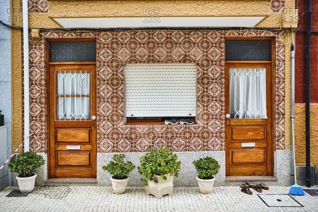 Portugal- Porto- Afurada- Unique house facade seen during daytime
