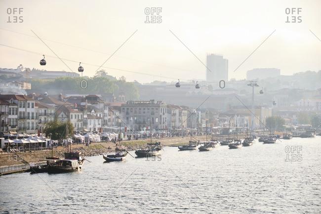 Portugal- Porto- Vila Nova de Gaia- Rabelo boats seen from Douro river