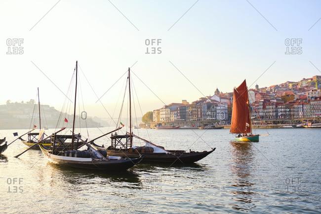 Portugal- Porto- Douro- Vila Nova de Gaia port wine boats