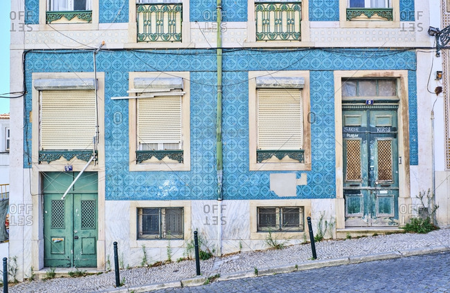 Portugal- Lisbon- Alfama- building exterior