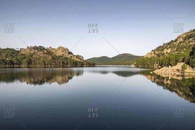 Reservoir de L'Ospedale in the morning- Corse-du-Sud- Corsica- France