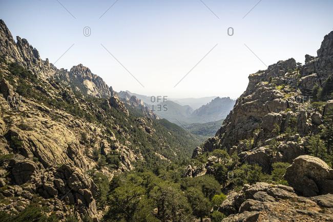 View to valley- Aiguilles de Bavella- Corse-du-Sud- Corsica- France