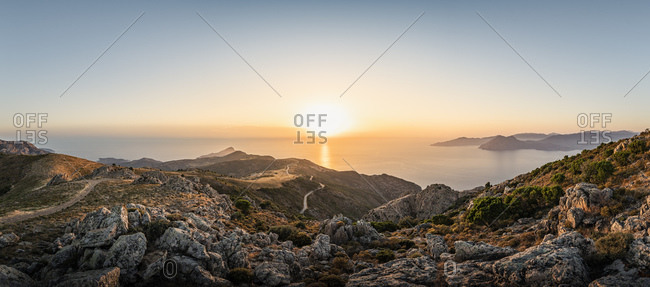 View from Belvedere de Saliccio at sunset- Piana- Corse-du-Sud- Corsica- France
