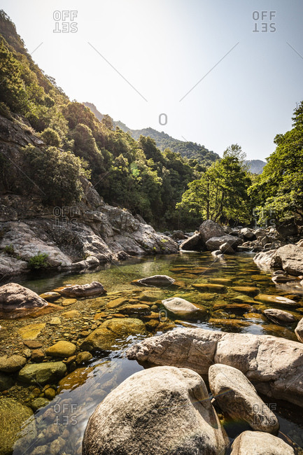 Ruisseau de Aitone- Gorges de Spelunca- Ota- Corsica- France