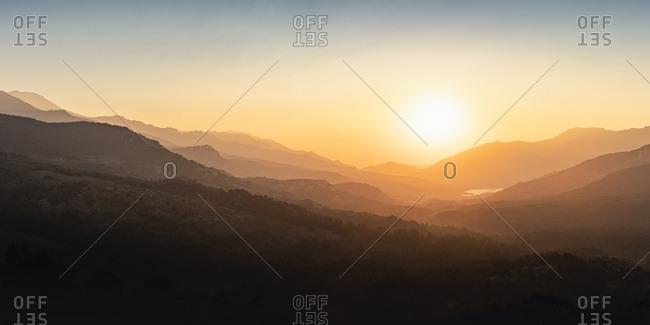 Albertacce- Lac de Calacuccia at sunrise- Haute-Corse- Corsica- France