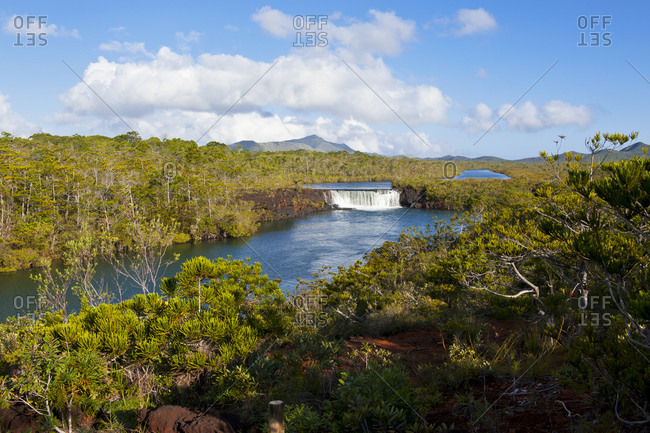 View of Chute de la Madeleine against sky- Grande Terre- New Caledonia