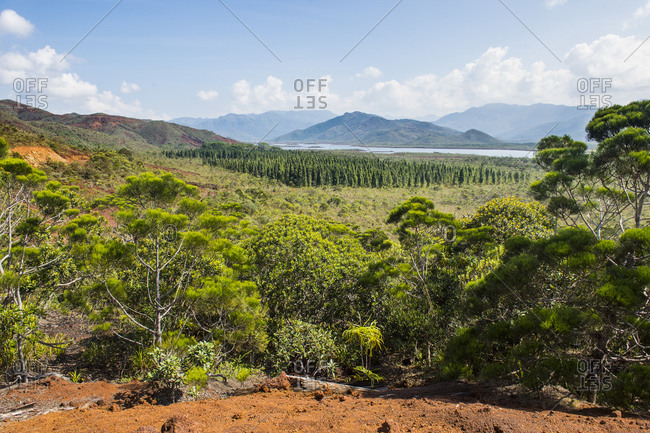 Scenic view of Blue River Provincial Park against sky- Yate- New Caledonia