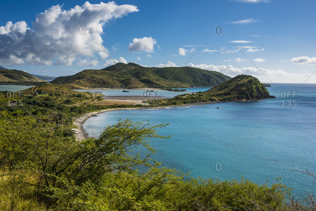Scenic view over South Peninsula of St. Kitts- St. Kitts and Nevis- Caribbean