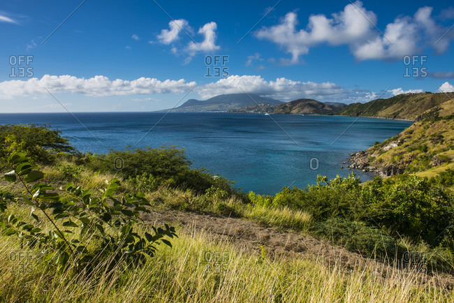 Idyllic view over South Peninsula of St. Kitts- St. Kitts and Nevis- Caribbean