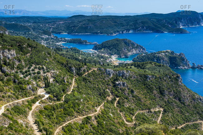 Scenic view of Corfu against blue sky- Ionian islands- Greece