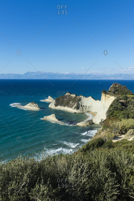 Scenic view of Corfu against blue sky during sunny day- Ionian islands- Greece