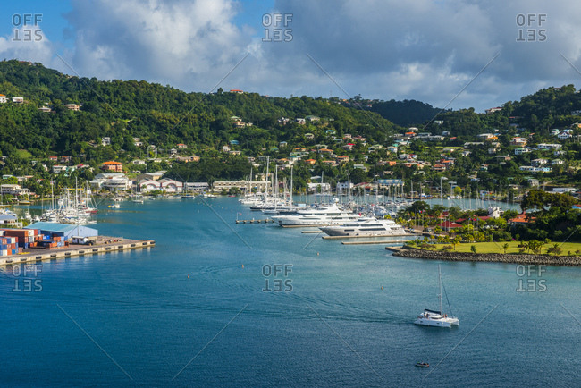 January 3, 2015: High angle view of St Georges- capital of Grenada- Caribbean
